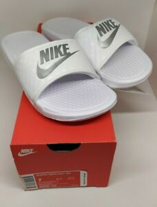 NIKE-Benassi-Women-039-s-Slide-in-White-Available-in-Size-US-8-amp-9-only