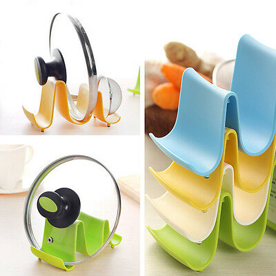 Plastic Kitchen Pot Pan Cover Lid Shell Stand Shelf Holder Rack Cooking Tool Hot