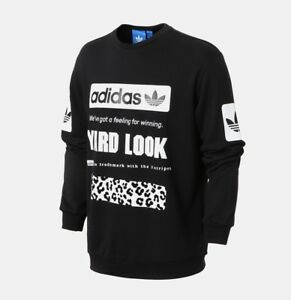 3e8283eef2d Image is loading New-Adidas-Originals-Graphic-Crew-black-Sweater-Sport-