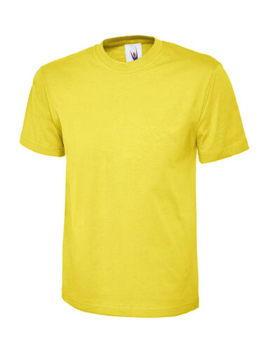Uneek Kids T-Shirt Boys Girls 100/% Cotton Regular Fit Blank Crew Neck Summer Tee