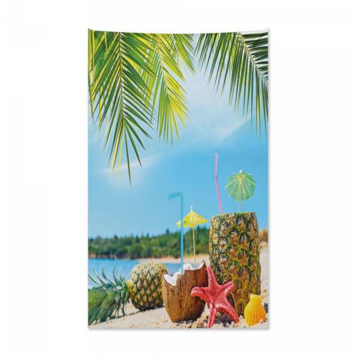 Strand Wandteppich und Tagesdecke Coconut Ananas Sommer Druck