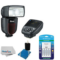 Nissin Di700a Flash Kit For Sony Cameras + 4 Eneloop Aa Batteries & Charger on sale