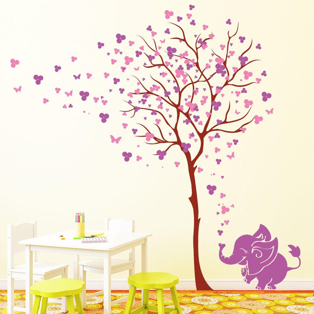Arbre avec éléphant couleur) fleurs (3 en couleur) éléphant De Mural Loft 10662 Chambre Enfant Coloré 441c9d