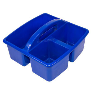 Details About Small Dark Blue Storage Basket With Handle Art Desk Cleaning Sink Caddy Box Tidy