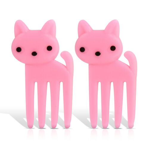 10pcs  Bento Cute Animal Food Fruit Picks Forks Tool Lunch Box Accessory Decor