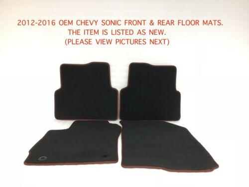 2012-2016 oem chevy sonic floor mats 42396423
