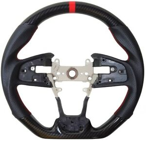 Sports-Hydro-Dip-Carbon-Steering-Wheel-for-2016-2020-HONDA-CIVIC-Gen-10th-Type-R