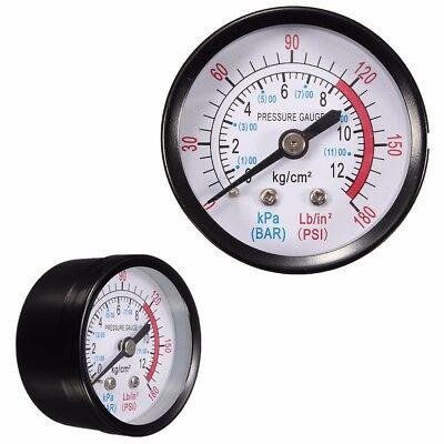 """1//4/"""" BSP Thread 0-180PSI 0-12Bar Air Pressure Gauge For Air Compressor Iron"""