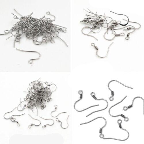 100pcs Charm Stainless Steel Earring Hooks Ear Wire Findings Jewelry Making DIY