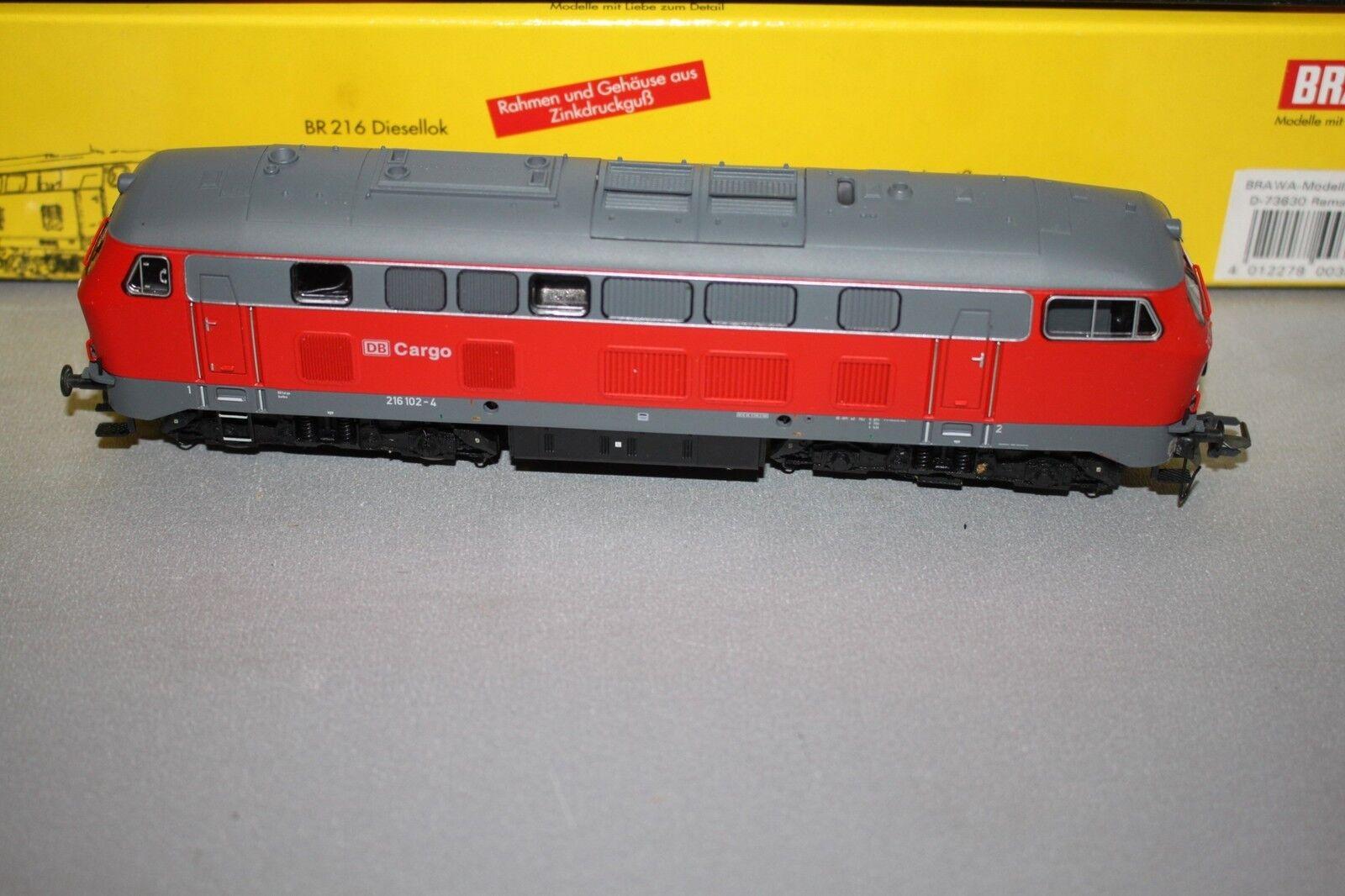 ビーワ0384ディーゼル機関車216シリーズ102 - 4 DB貨物DSSスケールH 0 EMB。オリグ