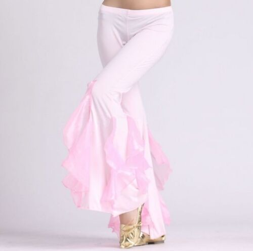 1361# Belly Dance Costume Mermaid Flared Pants 9 Colors