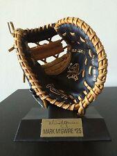 Mark McGwire Big Mac Mini Glove Mitt Rawlings Card StL Cardinals Gold First Base