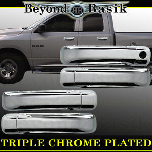 For 2009-2018 DODGE RAM 1500 Chrome 4 Door Handle COVERS W//Out PSK W//O Smart Key