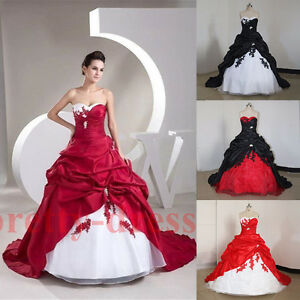 c689a1e9ce Image is loading Long-Strapless-Appliquees-Ball-Gowns-Wedding-Dresses -Vintsge-