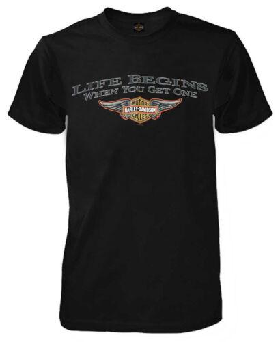 Harley-Davidson Men/'s T-Shirt Winged Bar /& Shield Logo Black Tee R783500030
