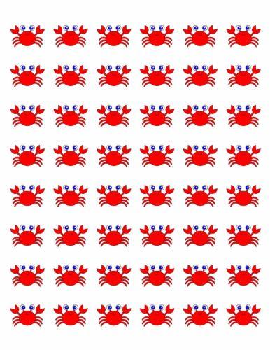 "48 RED CRAB ENVELOPE SEALS LABELS STICKERS 1.2/"" ROUND ."