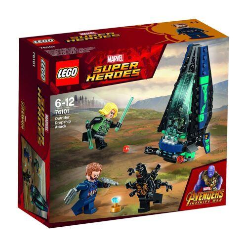LEGO Marvel Super Heroes Outdoor Dropship Attack Building Set 76101 NEW NIB