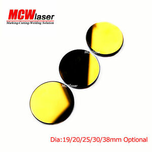 MCWlaser 3PCS Si Mirror Coated Gold Dia:19mm for CO2 Laser Engraving Cutting 40W-150W