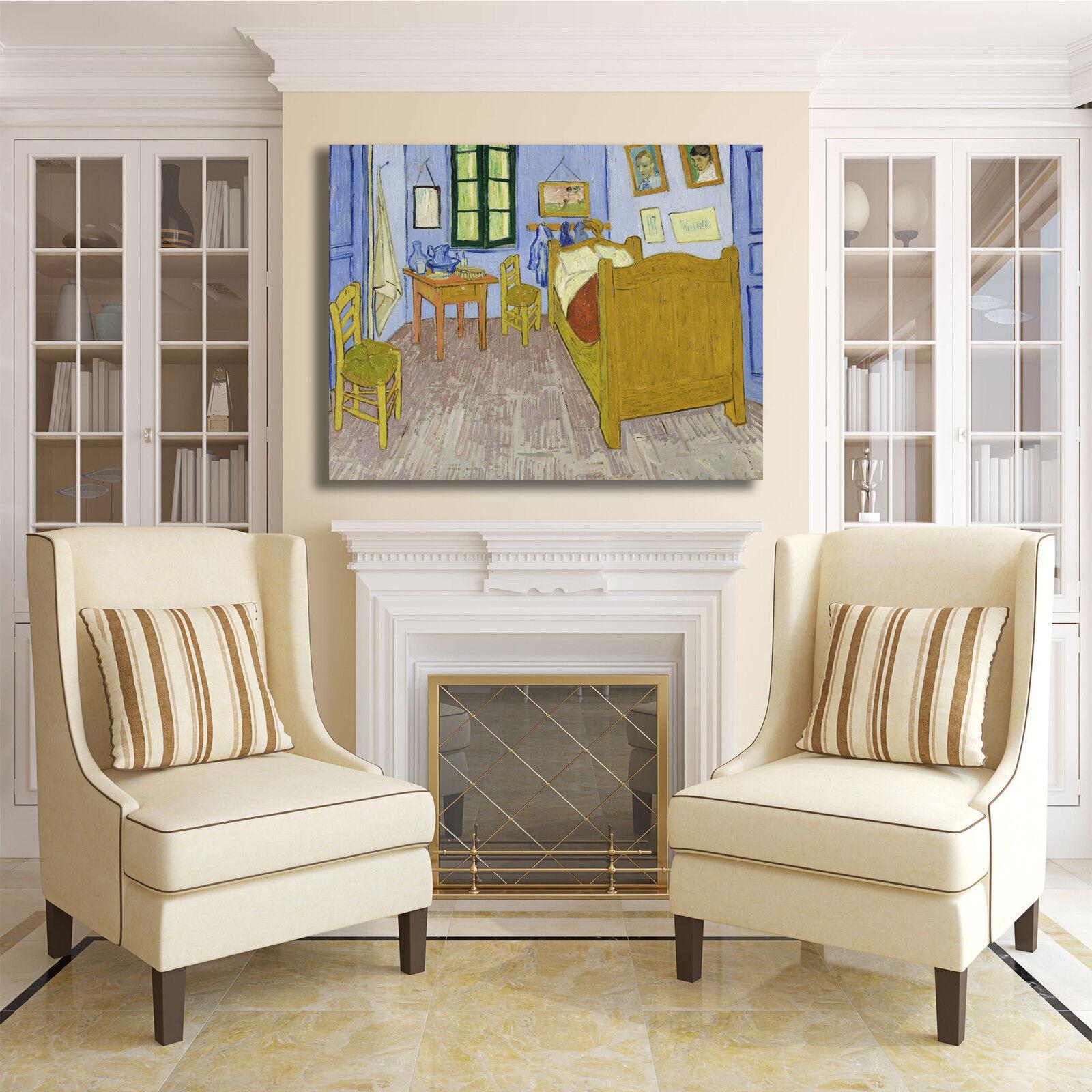 Van Gogh la camera da da da letto design quadro stampa tela ...