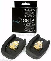 Crank Brothers Quattro 3-hole Pattern Road Bicycle Cleats Fits Eggbeater Candy