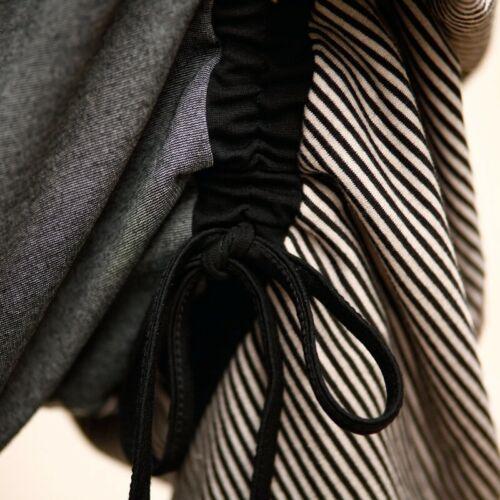 Hip Hop Womens Street Loose Trousers Leisure Patchwork Asymmetric Harem Pants L