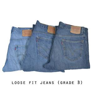 LEVIS-LOOSE-FIT-JEANS-DENIM-GRADE-B-W30-W32-W34-W36-W38-W40