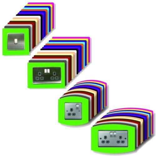 5 X Single Light Switch Surround Acrylique Transparent Perspex ® de doigt