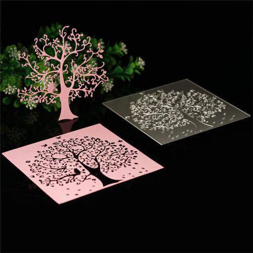 Tree DIY Stencil Cutting Dies Scrapbooking Album Card .Embossing Craft De oouu