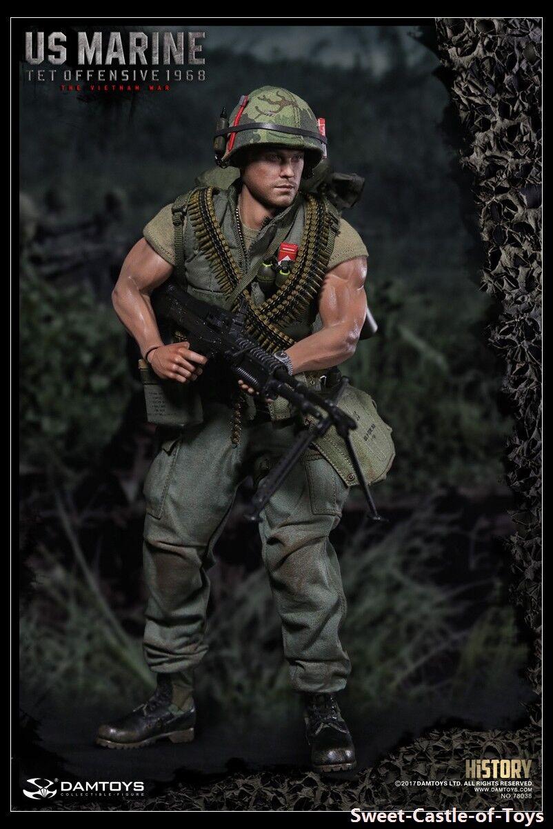 1 6 DamJuguetes Figura de Acción Us Marine Tet ofensiva 1968 guerra de Vietnam 78038 DAM
