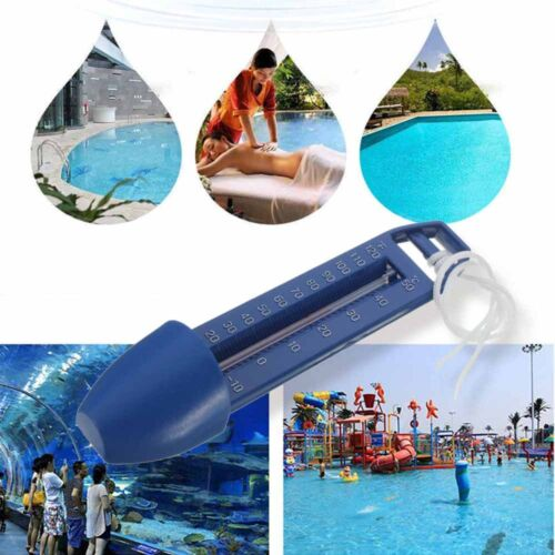 Swimming Pool Spa Hot Tub Bath Pond Scoop Thermometer Water Temperature Test E7X