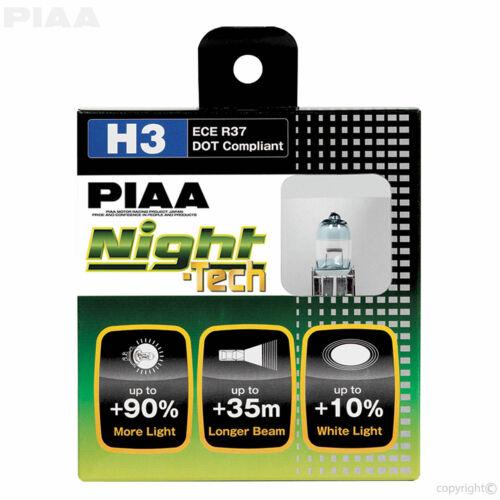 PIAA H3 Night Tech 3600K Xtra 55w = 110w Halogen Headlight Bulbs Set of 2 NEW