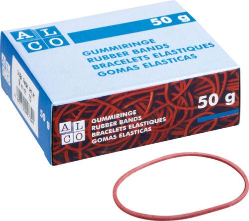 50 gr ALCO 752 Gummibänder Größe 150 x 4 mm rot Gummiband Gummiringe NEU /& OVP