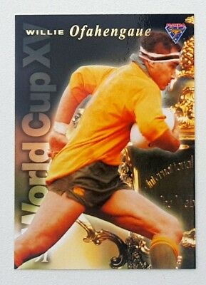 1995 Futera Rugby Union World Cup XV insert card #WC7 Willie Ofahengaue