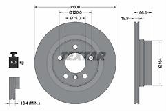 2 X 92257203 REAR TEXTAR BRAKE DISCS