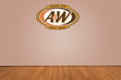A /& W Root Beer Color Die Cut Vinyl Decal Sticker You Choose Size