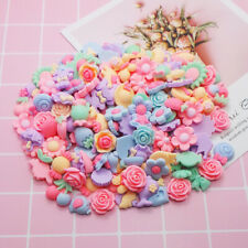 50pcs Mix Color 13mm Resin Daisy DIY Flatback Button Scrapbooking Crafts JOB085
