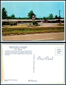 VIRGINIA-Postcard-Rocky-Mount-Redwood-Motel-amp-Restaurant-Q11