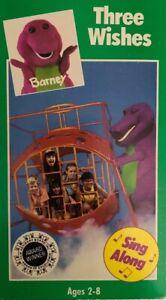 Barney Three Wishes(VHS 1992)Backyard Gang-SUPER RARE ...