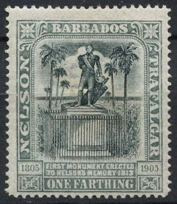1/4d Nelson Centenary Mh #d11301 Cooperative Barbados 1906 Sg#145 Stamps