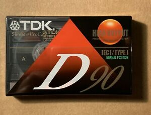 TDK-High-Output-Low-Noise-90-Minute-Audio-Recording-Blank-Cassette-BRAND-NEW