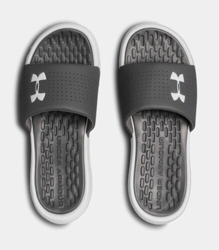 Under Armour Men/'s UA Playmaker Fixed Strap Slides Sandals Many Sizes