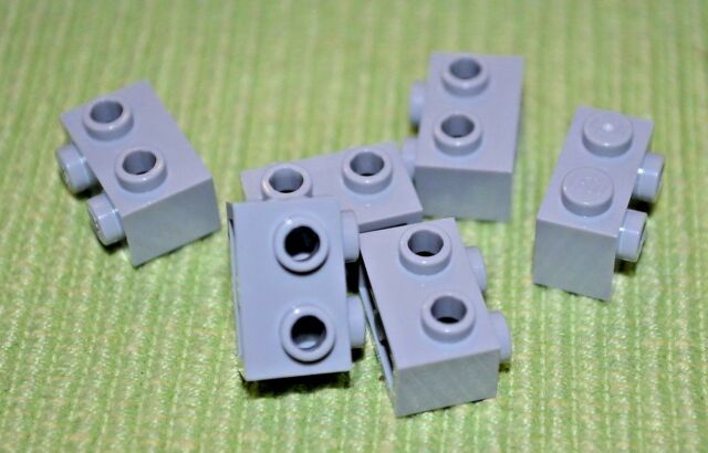 6 NEW Lego Parts 1x1 Black Tile with Pin on End Brick Bricks