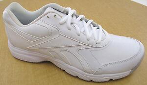 Reebok Mens Work n  Cushion Walking Shoes Oil Slip Resistant- White ... 506e9a69e