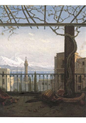 Kunstpostkarte Neapel mit Monte Somma und Vesuv Carus