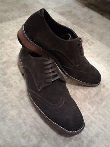 Joseph-Abboud-Evan-Chocolate-Brown-Suede-wingtip-shoes-8-8-5-9-9-5-10-10-5-11-13