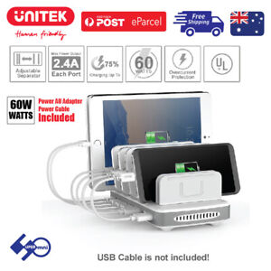 Charging-Station-60W-7Port-USB-Apple-Andriod-Fast-Charge-Hub-Office-Home-PW10009