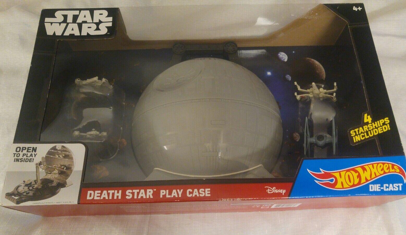 Las ventas en línea ahorran un 70%. BNIP Hot Wheels Caja De Juego De Estrella Wars Wars Wars Estrella de la muerte con 4 Die Cast naves espaciales  Disfruta de un 50% de descuento.
