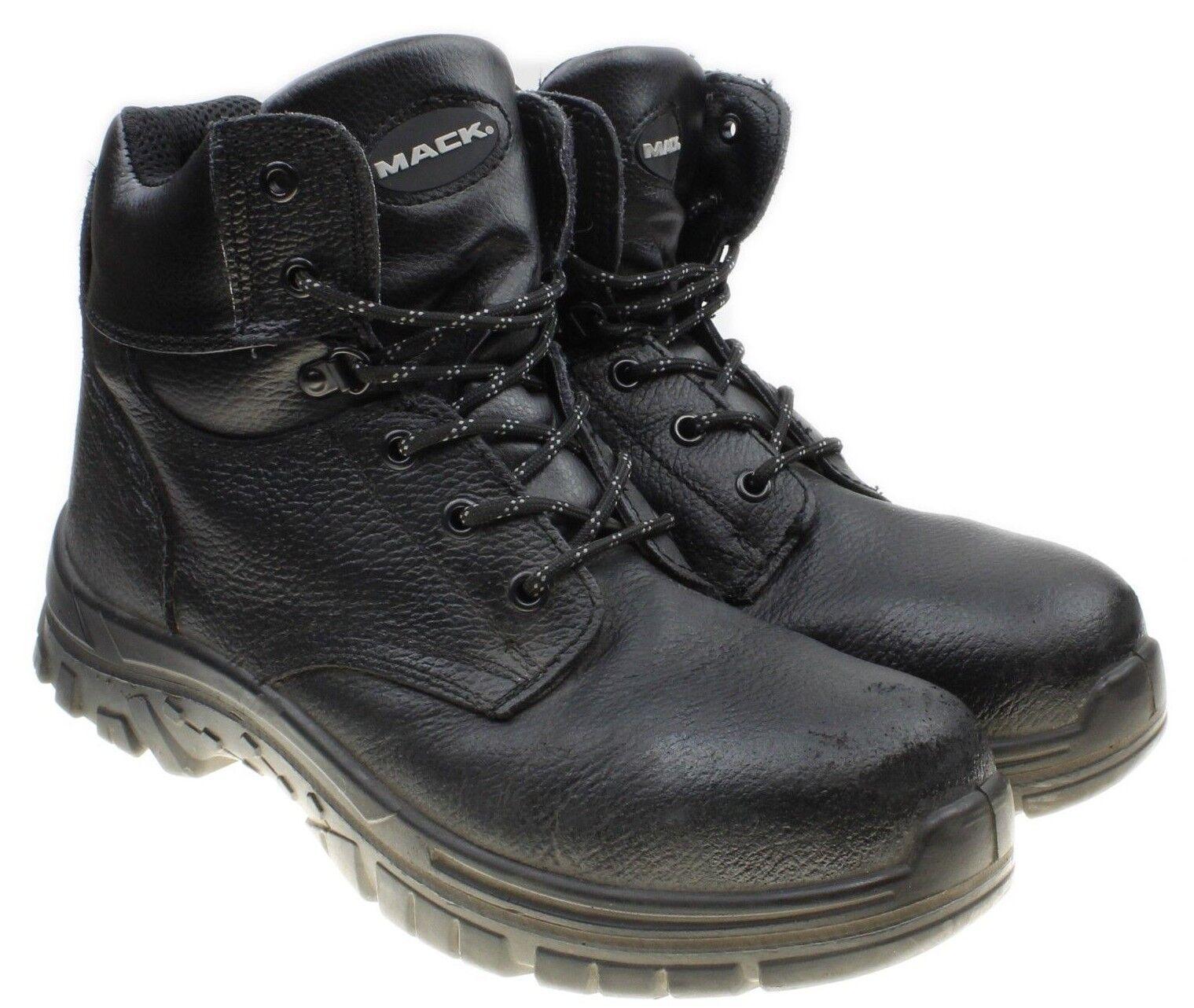 Mack Tradesman Steel Toe Black Leather Boots Slip Resistant Men's Sz 11.5