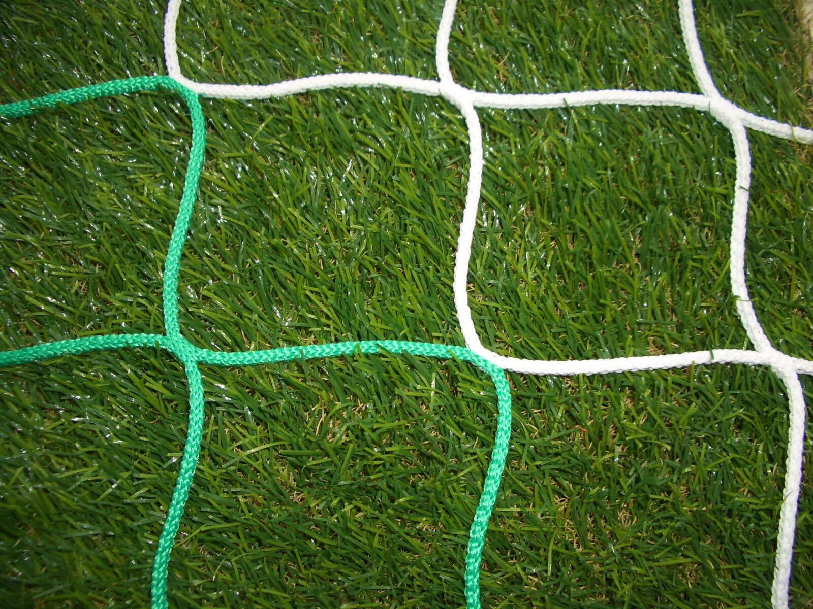Tornetz, Handballnetz, Handballtornetz, Netz für Handball, grün weiß, PP 4 mm   | Räumungsverkauf  | Zuverlässige Leistung