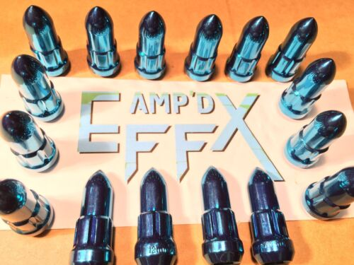 STEEL 16 pack set 14-17 POLARIS RZR 1000 /& TURBO XP-BLUE SPIKE LUG NUTS